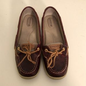 Sperry Angelfish Cordovan Anchor Loafer Size 10